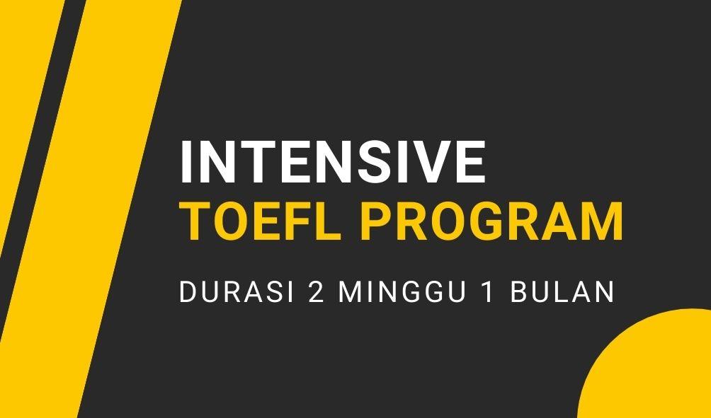 Intensive TOEFL Program