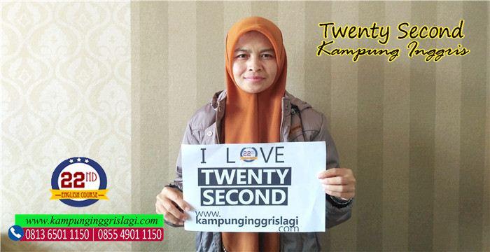 enaz (alumni twenty Second Kampung Inggris)