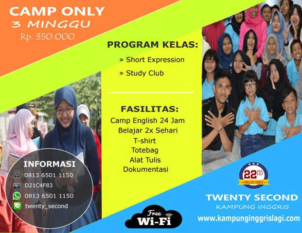 CAMP ONLY 3 MINGGU