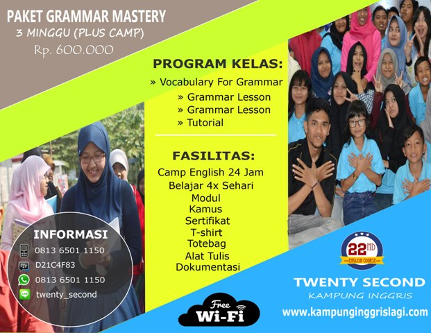 Grammar Mastery 3 Minggu (Plus Camp)
