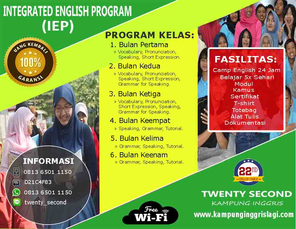 Integrated English Program Kampung Inggris