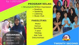 INTENSIVE TOEFL 1 BULAN NON CAMP