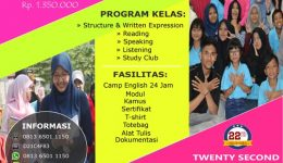 INTENSIVE TOEFL 1 BULAN PLUS CAMP
