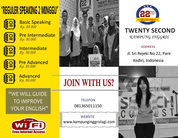 REGULER SPEAKING 2 MINGGU